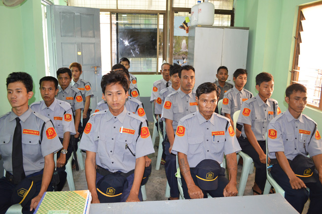kone baung security service,security service in myanmar, security service in yangon